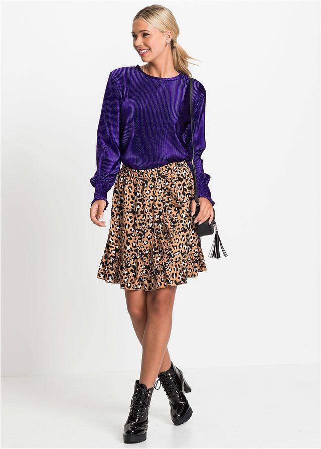 Spodnica W Cetki Leoparda Z Falbanami Brazowy Leo Bonprix Sklep Dress To Impress Skirts Fashion