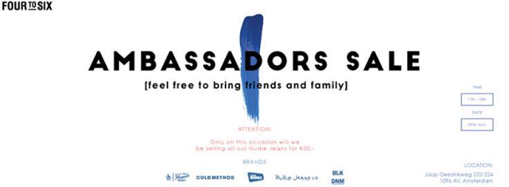 Four to six ambassadors sale  2015 -- Amsterdam -- 29/10