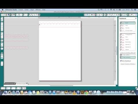 ▶ Découper une bordure en bord d'une page avec la Silhouette - YouTube