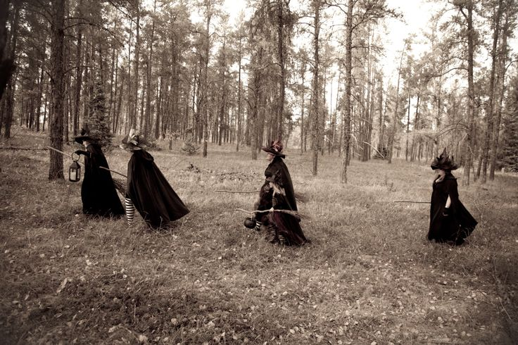 Witch Family Photo Shoot - thru the Forest
