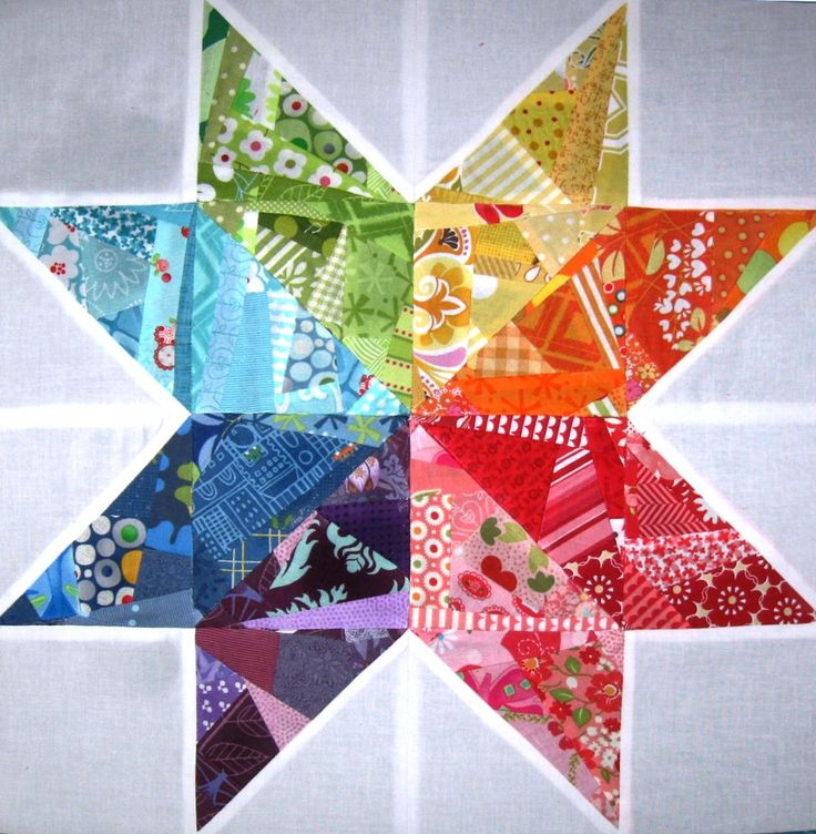 Scrappy Rainbow Star Quilt Block | Scraps have never looked so beautiful!