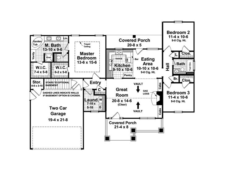 Arts And Crafts House Plan First Floor