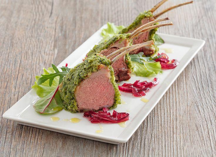 Carrè di agnello marinato in olio extra vergine d'oliva 100% italiano ed erbe aromatiche. - Oleificio Zucchi