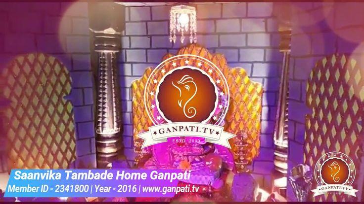 Saanvika Tambade Home Ganpati Decoration Video 2016 | www.ganpati.tv | More at https://www.ganpati.tv/saanvika-tambade-2341800/  Materials/Objects/Ideas/Tags Used for Ganpati Decoration: Thermocol, Makhar, Led Light, Pillar, Lion, Chandelier (Jhumar), Light