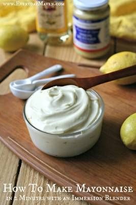How To Make Mayonnaise with an Immersion Blender from www.everydaymaven.com