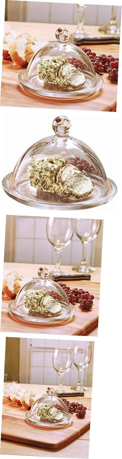 Butter Dishes 103433: Dome De Fromage Mini Glass Cheese Butter Dish Dome With Tray Plate And Handle, -> BUY IT NOW ONLY: $33.34 on eBay!
