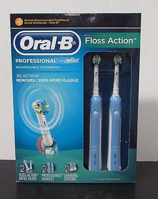 Oral-B Floss Action Rechargeable Electric Toothbrushes NEW OPEN BOX  70d4cb5845b8