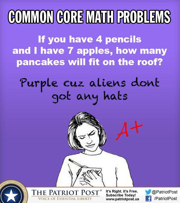 Humor: Common Core Math Problems — The Patriot Post
