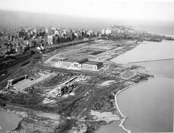 Construction of Grant Park Stadium (Soldier Field) Chicago, Illinois c.1923