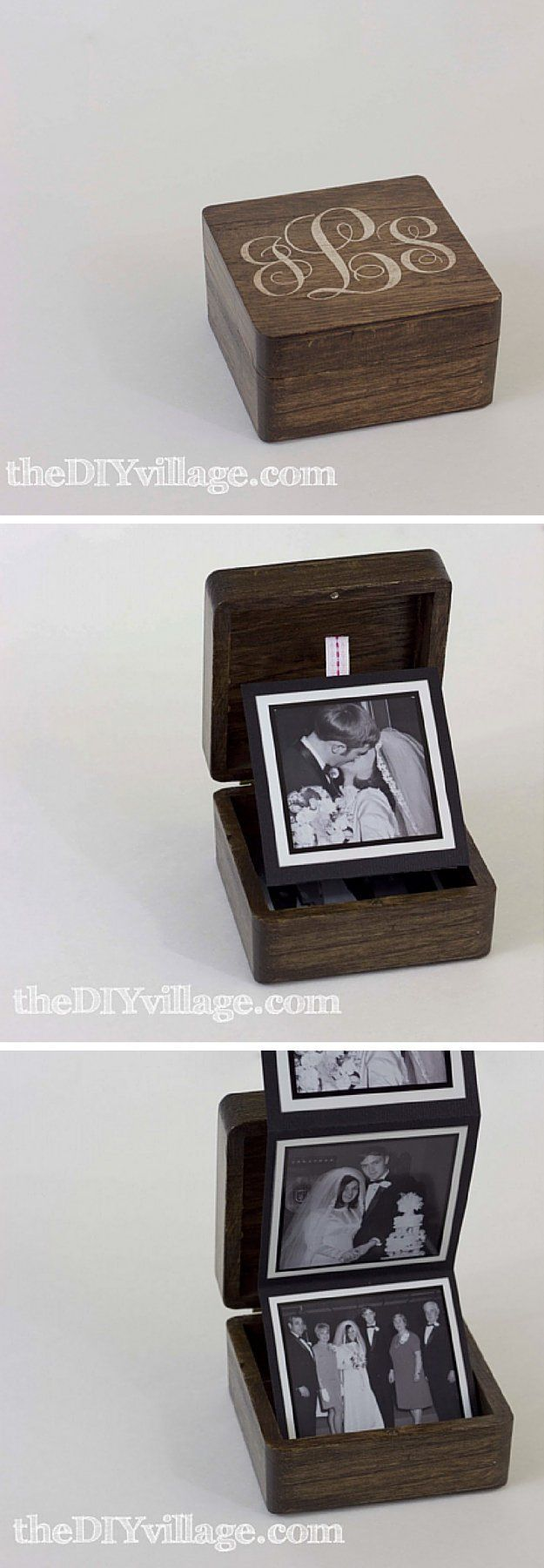 Pop Up Photo Box | 10 DIY Anniversary Gifts for Him | Easy Handmade Gifts That Will Melt His Heart by DIY Ready at http://diyready.com/10-diy-anniversary-gifts-for-him/