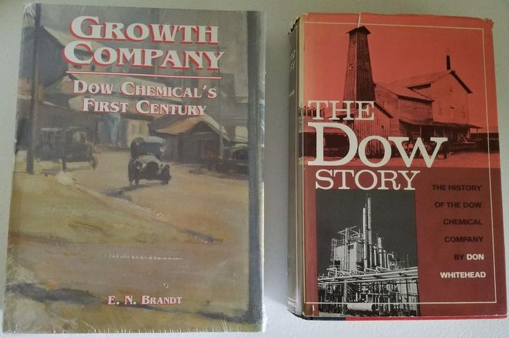 Dow Chemical 2 Book Lot: The Dow Story & Growth Company New & Used Hardcover Eds