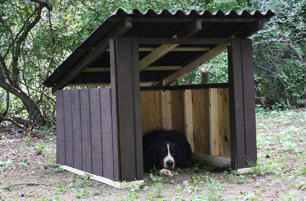 diy a cool modern dog house. Black Bedroom Furniture Sets. Home Design Ideas