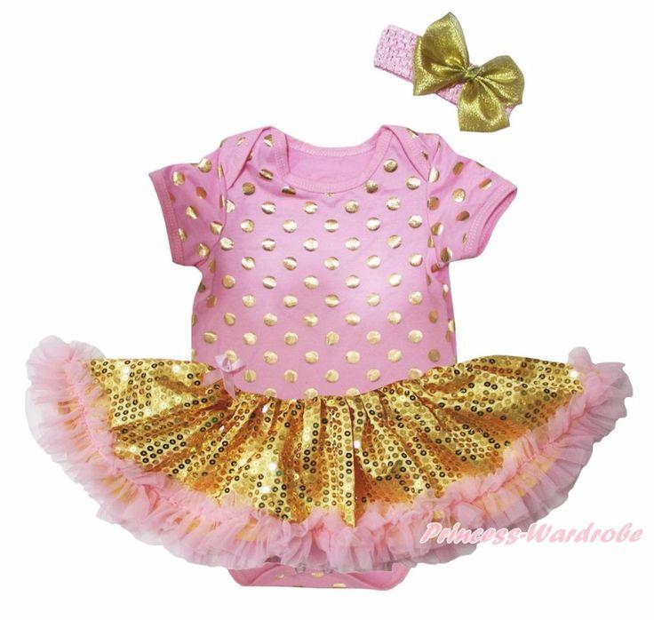 >> Click to Buy << Bling Little Big Sister Happy Halloween Birthday 1st Dots Super Hero Pink Bodysuit Gold Sequin Tutu Set Nb-18m #Affiliate
