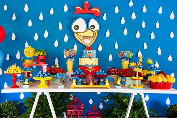 Resultado de imagem para festa infantil galinha pintadinha simples