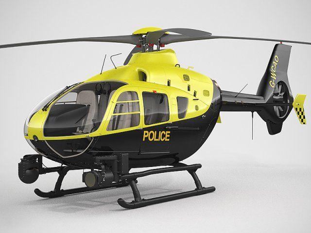 Eurocopter EC135 Police 3D Model .max .c4d .obj .3ds .fbx .lwo .stl @3DExport.com by 3dAcuvision