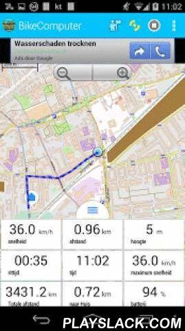 BikeComputer  Android App - playslack.com ,  BikeComputer begeleidt u op uw fietstocht met vrij beschikbare offline kaarten - wereldwijd.Op basis van de kaarten kunt u altijd oriënteren jezelf , zelfs in het wild - zonder dataverbinding . • Volg uw reis op de kaart en zie je afstand , snelheid en alle andere relevante gegevens • een route plannen door punten op de kaart berekent BikeComputer het spoor en de afstand • waypoints van de route te verplaatsen met behulp van drag'n'drop en ontdek…