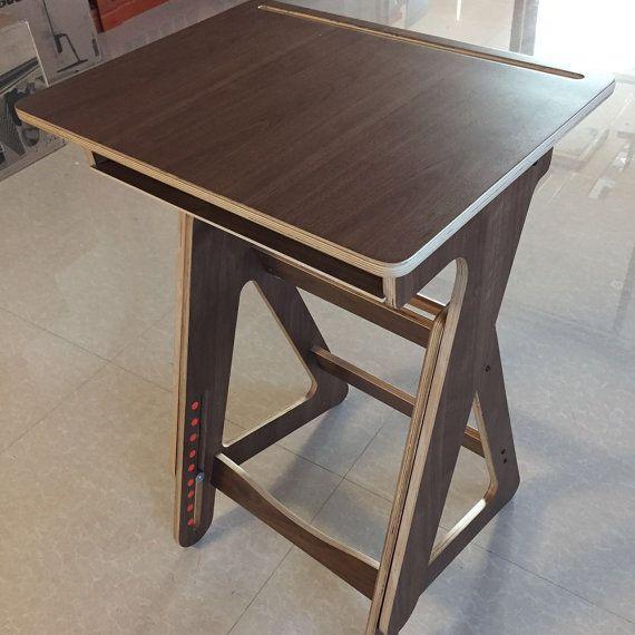 Escritorio de madera de altura regulable escritorio Home