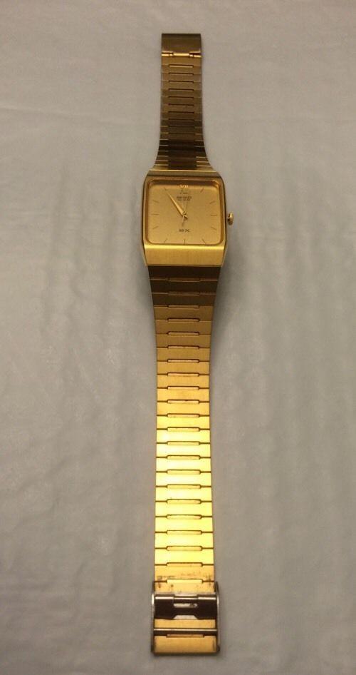Seiko SX Men's Vintage Watch 5Y95-5000 Gold Dial Gold Tone ...