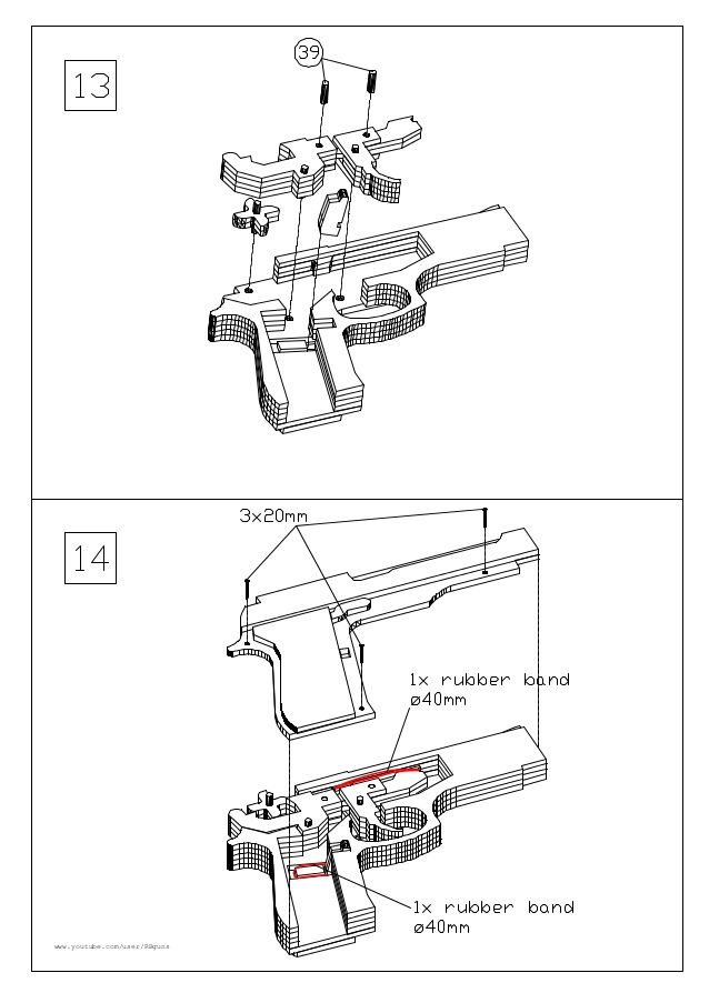 M9 rubber band gun                                                                                                                                                                                 Mais