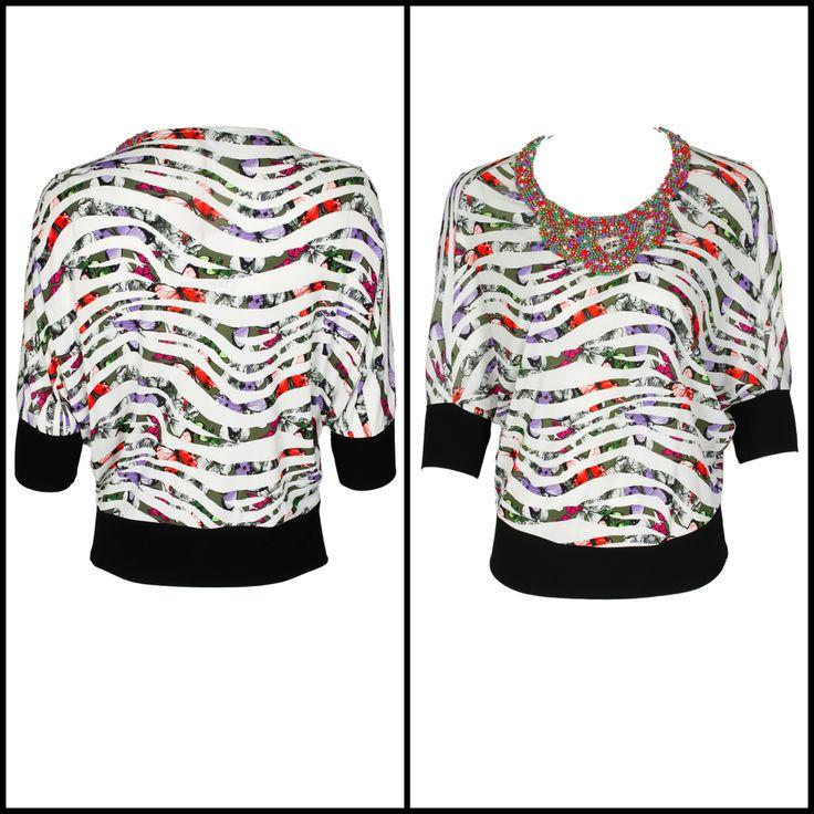 #whoswho #greenbird #abudhabi #abudhabistyle #abudhabifashion #dubai #dubaistyle #dubaifashion #marinamall #womenswear #casualwear #spring2014 #summer2014 #springsummer2014 #ss14 #shirt #collaredshirt #printedcollaredshirt #printedshirt #psychedelic #cuffedsleeves #printed #Psychedelicprint