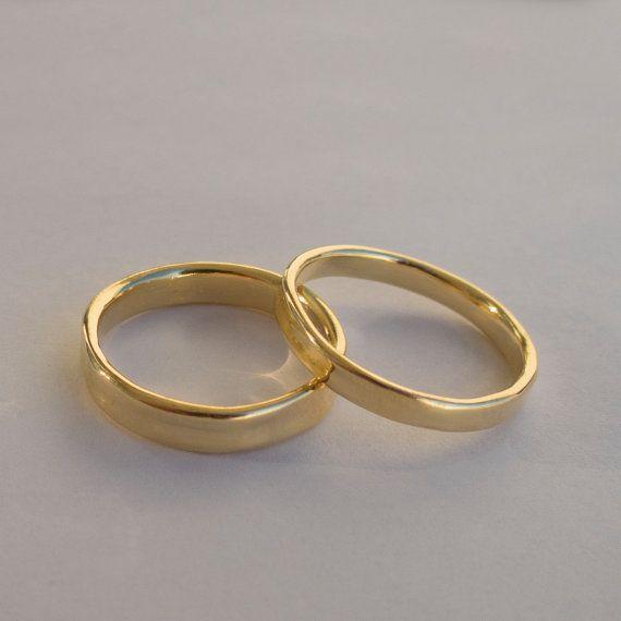 14k Goldring Unisex Ring Hochzeitsring Ehering von doronmerav, $760.00