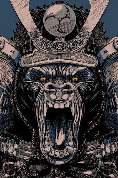 Animal Samurai Asesino by Alex Monzón, via Behance