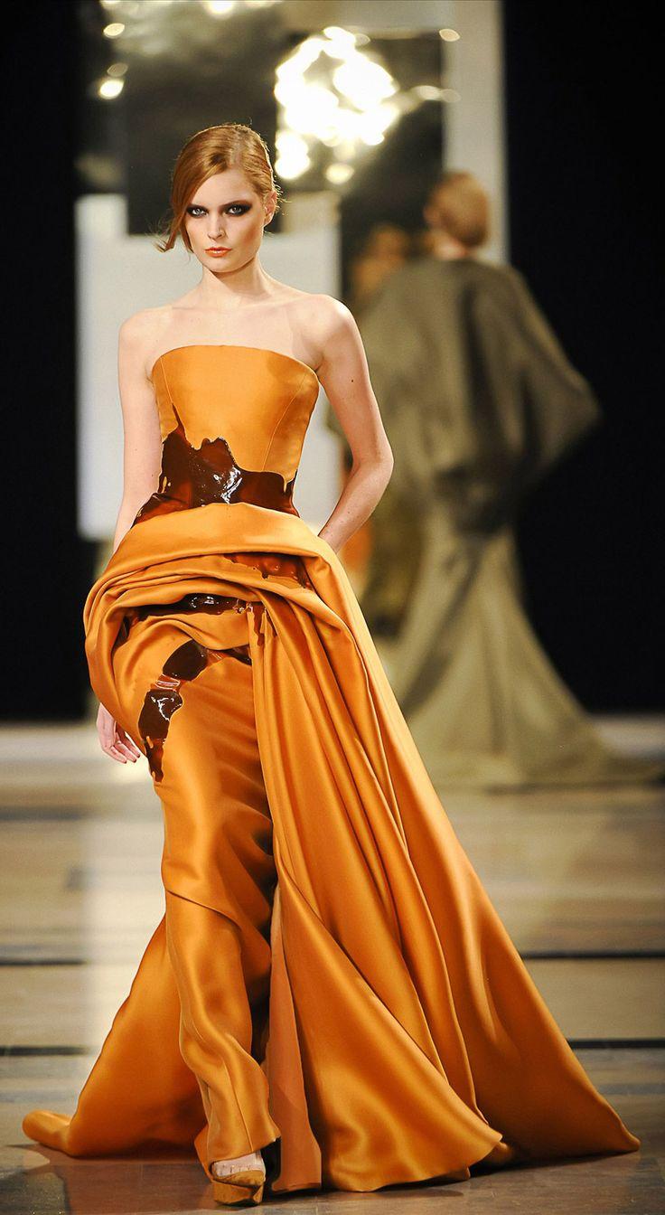 Stéphane Rolland 2011 Haute Couture ParisOrange, Paris Fashion, Stéphane Rolland, High Rolland, Gowns, Dresses, Stephane Rolland, High Fashion, Haute Couture
