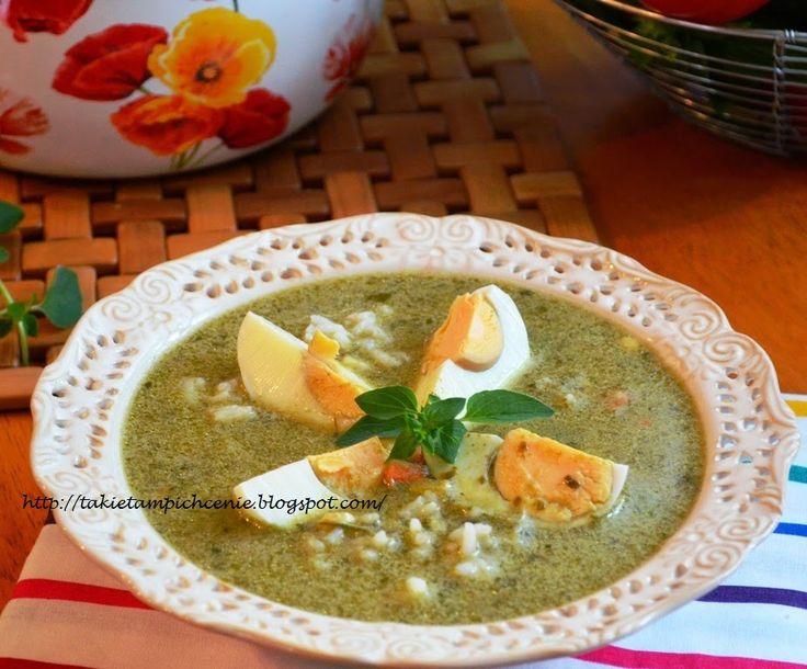 Smak, zapach, kolor, tradycja z nutką nowoczesności...: Zupa szczawiowa