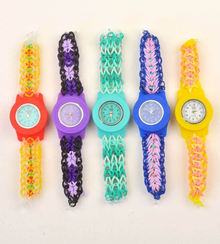 photo the loom colorful rubber fashion background stock rainbow bands