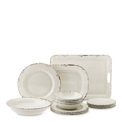 Rustic Melamine Dinnerware Collection #williamssonoma