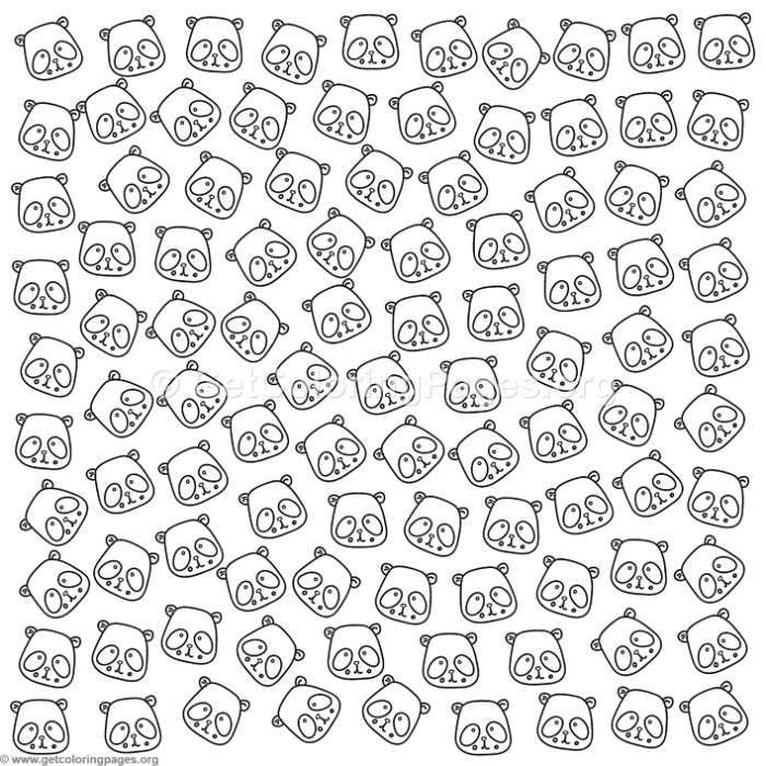 Free Instant Download Cute Panda Pattern Coloring Pages Coloring Coloringbook Coloringpages Pattern Coloring Pages Coloring Pages Free Coloring Pages