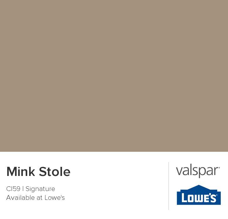 Mink Stole From Valspar Paint Colors Pinterest Mink