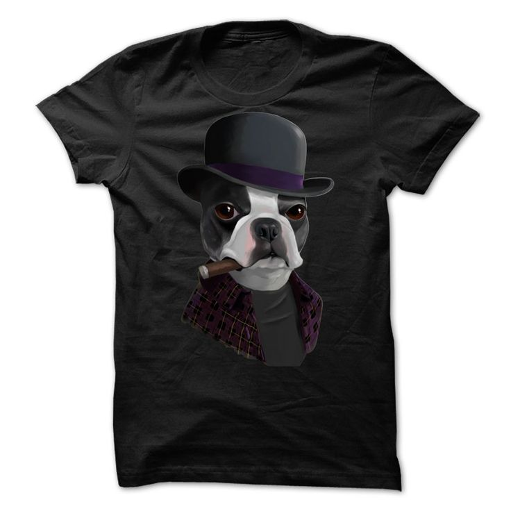 (Top Tshirt Sale) Gentleman Pug v3 at Tshirt United States Hoodies, Tee Shirts