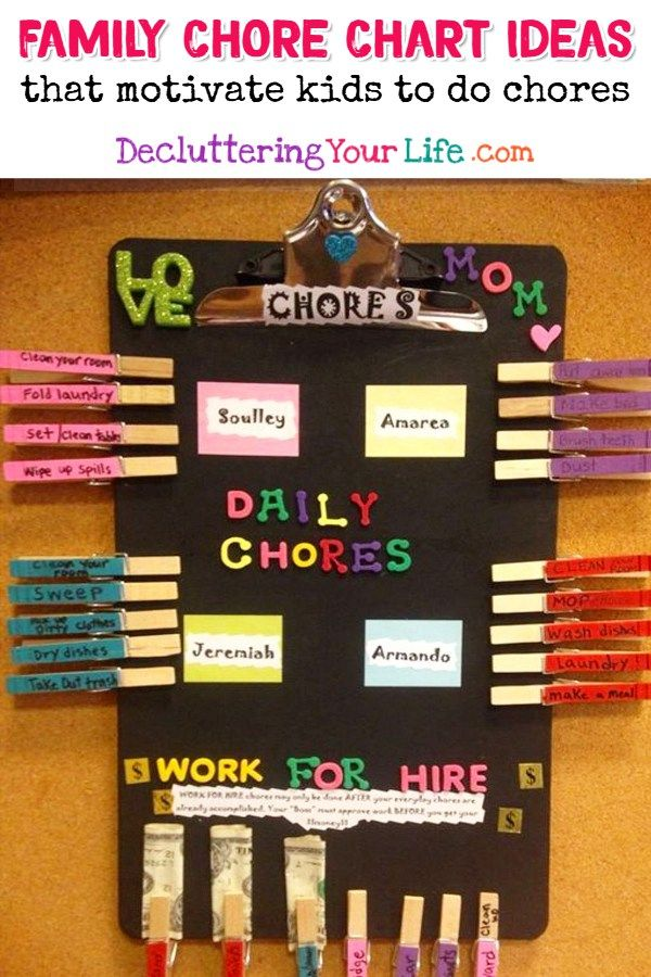59+ Chore Chart Ideas For Kids ( multiple kids) - DIY Chore Boards