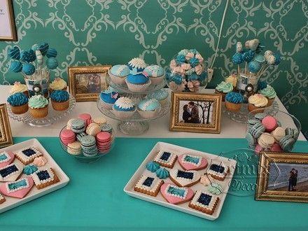 Оформление свадеб. Аквамариновый цвет в оформлении фотозоны и Candy bara. Свадебная фотозона и Кенди бар в синем цветк