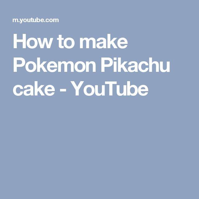 How to make a pokemon cake youtube