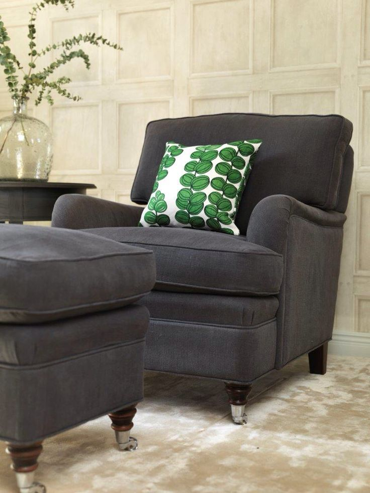 Howard armchair with footstool