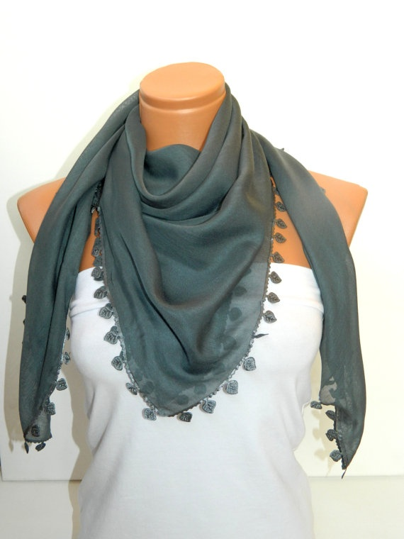 Dark Gray Turkish Yemeni  Scarf by WomanStyleStore on Etsy, $19.00Dark Gray, Yemeni Scarf, Turkish Yemeni, Gray Turkish
