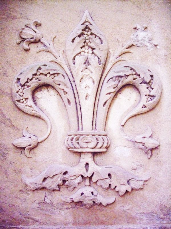 Fleur de lis -the Bourbon's symbol, the flower of lily