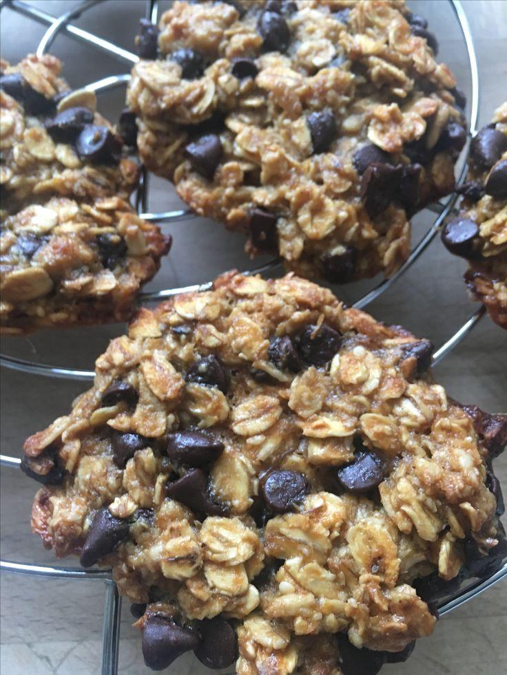 Mes cookies -flocons d'avoine -bananes & pépite de chocolat noir
