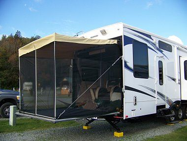 Superior RV Ramp Screen Patio/awning. | The Frame Is Made From PVC Pipe And