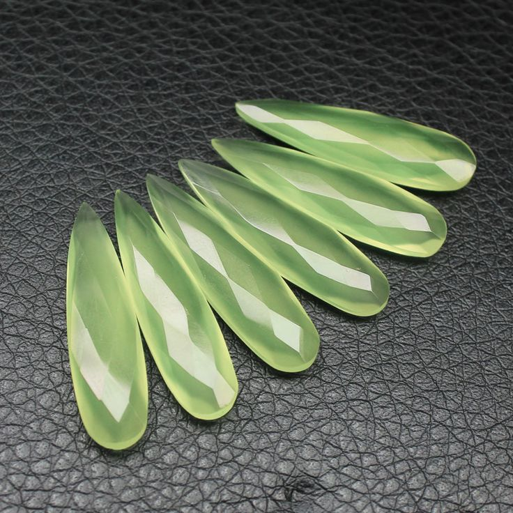 Seafoam Green Chalcedony Faceted pear drop briolette beads – Jewels Exports