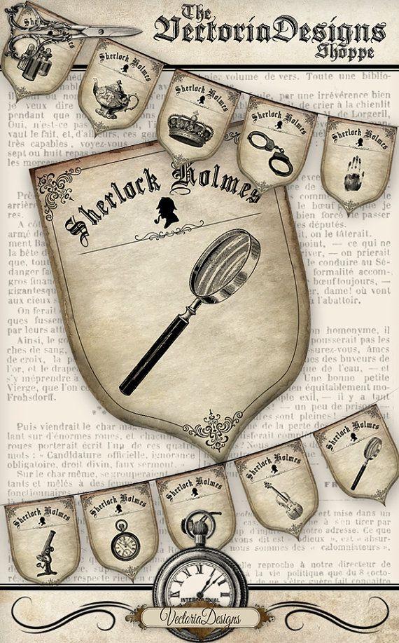 Sherlock Holmes Party Banner - printable - VDBAVI1034