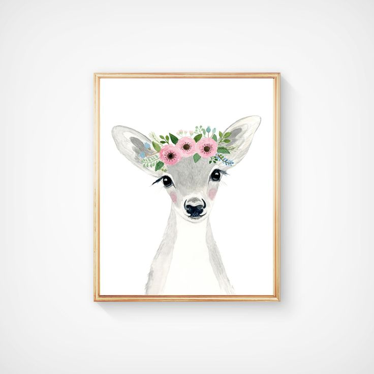 Watercolor fawn in grey tones, Woodland nursery, Animal Paintings, fox cub, Bear, Deer, watercolor animal, kids posters, prints, woodland by zuhalkanar on Etsy https://www.etsy.com/listing/274456386/watercolor-fawn-in-grey-tones-woodland