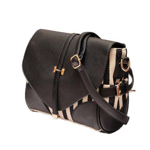 New Fashion Korean Lady Women Black and White PU Leather Vintage Single Handle Satchel Handbag Purse Hobo Tote Bag Oryer Online Shopping click on Amazon here http://www.amazon.com/dp/B00B3PAEMK/ref=cm_sw_r_pi_dp_kEoPtb1KT12AD1S7