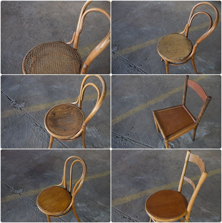 #NorthcliffAntiques cottage bentwood chairs and a globe chair. These bentwood chairs are available in the shop, unfortunately we don't have any globe chairs in stock. #Johannesburg #Cottage/Country #Chairs #Wood #Bentwood