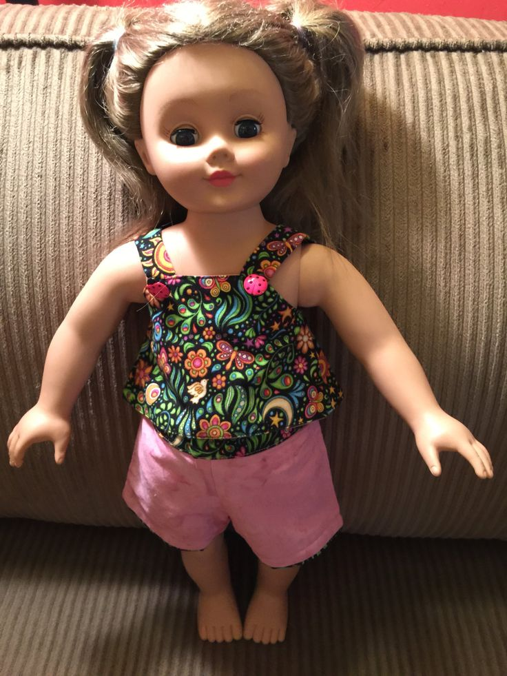 """American Girl Doll Clothes   Fits All  18"""" Dolls. Summer Tank Top and Shorts by CreativeCreationsDeb on Etsy"""