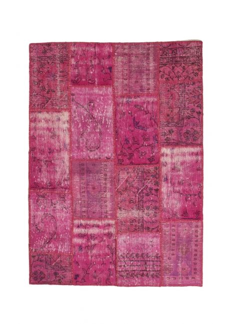 Recoloured patchwork tapijt op maat gemaakt