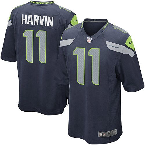 Men's Nike Seattle Seahawks Percy Harvin Game Team Color Jersey