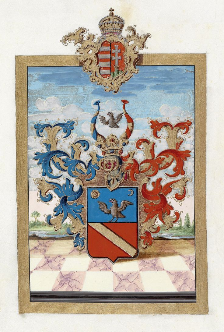 Hungarian Grant of Nobility and of Arms to Alois Privitzer, 1808.